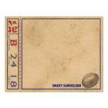 Los deportes del vintage personalizaron las tarjet invitacion personal
