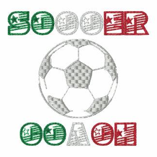 Los deportes italianos del estilo del balón de fút chaquetas bordadas