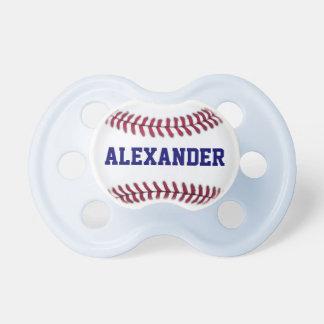 Los deportes personalizaron béisbol chupetes para bebes
