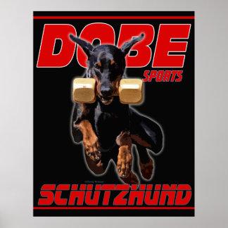 Los deportes Schutzhund de Dobe recuperan diseño Posters