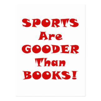 Los deportes son Gooder que los libros Postal