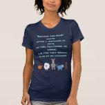 Los derechos de los animales citan animales lindos camiseta