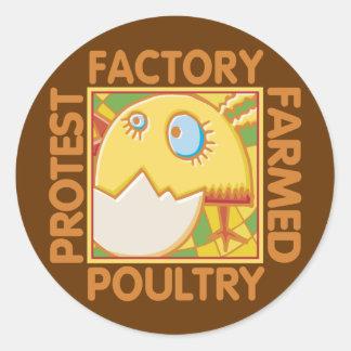 Los derechos de los animales de la granja de la pegatina redonda