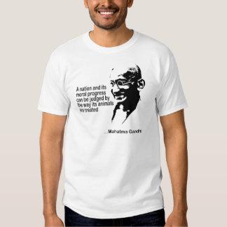 Los derechos de los animales de Mahatma Gandhi Polera