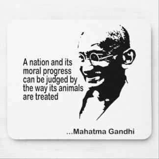 Los derechos de los animales de Mahatma Gandhi Tapete De Ratones
