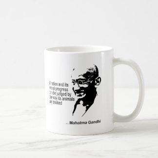 Los derechos de los animales de Mahatma Gandhi Taza De Café