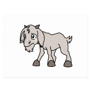 Los derechos de los animales jovenes grises postal