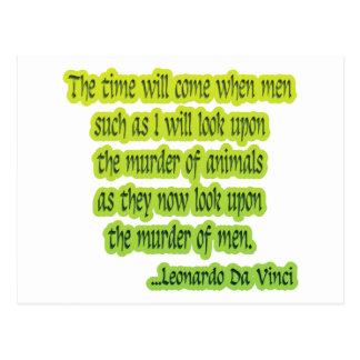 Los derechos de los animales Leonardo da Vinci Postal