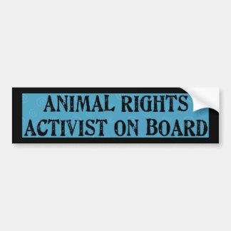 Los derechos de los animales pegatina para auto