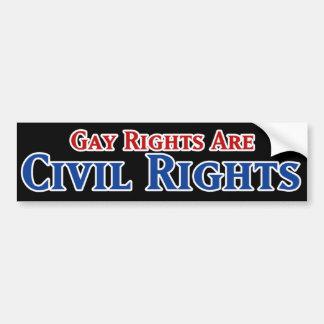 Los derechos de los homosexuales correcto civiles etiqueta de parachoque