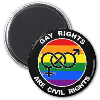 Los derechos de los homosexuales correcto civiles imán para frigorífico