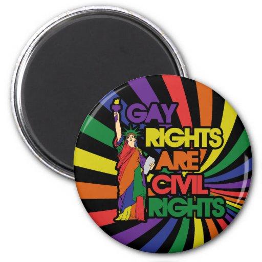 Los derechos de los homosexuales correcto civiles imán redondo 5 cm