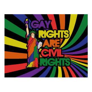 Los derechos de los homosexuales correcto civiles tarjetas postales