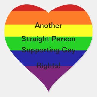 Los derechos de los homosexuales de la ayuda pegatina en forma de corazón