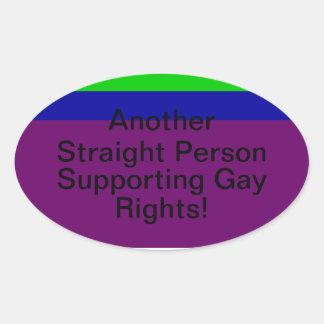 Los derechos de los homosexuales de la ayuda pegatina ovalada