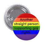 Los derechos de los homosexuales de la ayuda pins