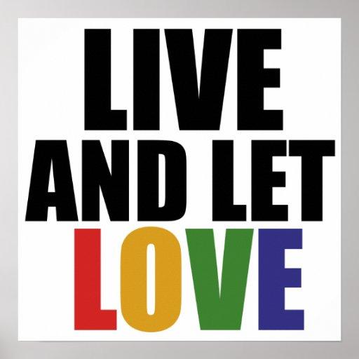 Los derechos de los homosexuales del AMOR correcto Posters