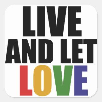 Los derechos de los homosexuales del AMOR correcto Pegatina Cuadrada