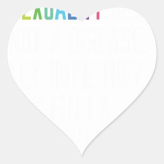 Los derechos de los homosexuales - la pegatina en forma de corazón