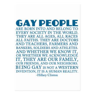 Los derechos de los homosexuales tarjeta postal