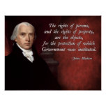 Los derechos de propiedad de James Madison Posters