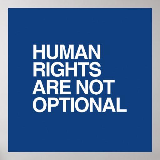 LOS DERECHOS HUMANOS SON NO OPCIONALES - .PNG POSTER