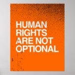 LOS DERECHOS HUMANOS SON NO OPCIONALES - .PNG POSTERS