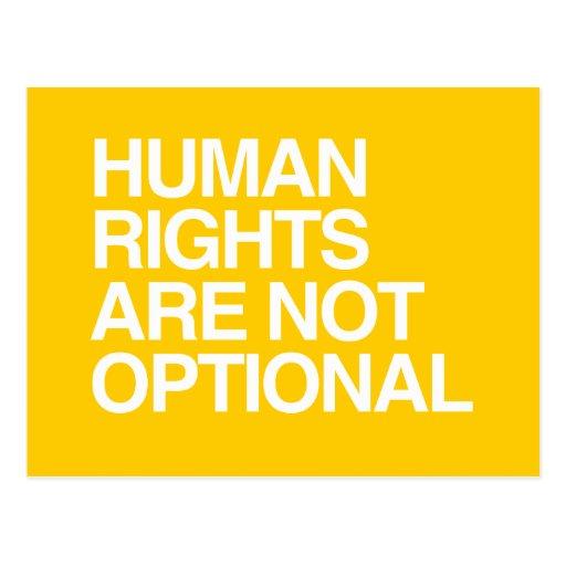 LOS DERECHOS HUMANOS SON NO OPCIONALES - .PNG POSTALES