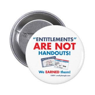 ¡Los derechos no son folletos! Botón Pin Redondo De 2 Pulgadas