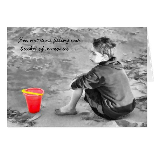 Los desaparecidos sentimentales usted vara el cubo tarjeta de felicitación