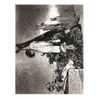 Los desastres de la guerra, plate 36 Goya, Tampoco Postcard