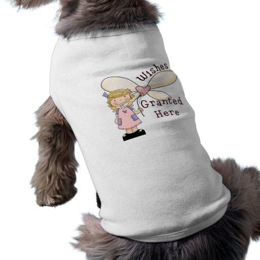 Los deseos concedieron a la hada madrina playera sin mangas para perro
