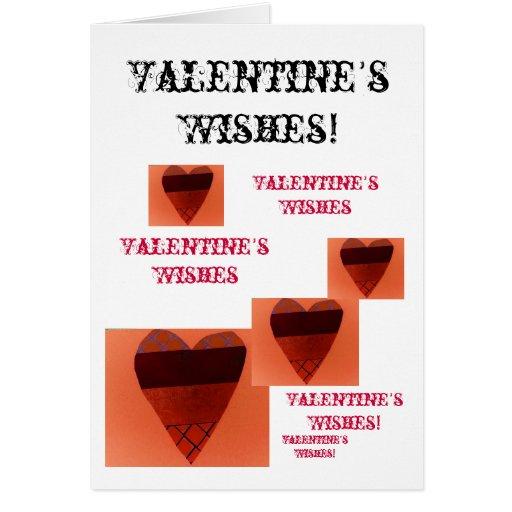 Los deseos de la tarjeta del día de San Valentín