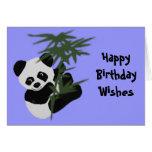 Los deseos del cumpleaños del pequeño panda tarjetas