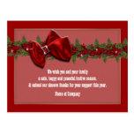 Los deseos del negocio del navidad PERSONALIZAN Tarjetas Postales