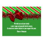 Los deseos del negocio del navidad PERSONALIZAN Tarjeta Postal