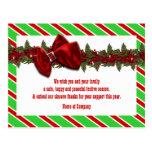 Los deseos del negocio del navidad PERSONALIZAN Postales