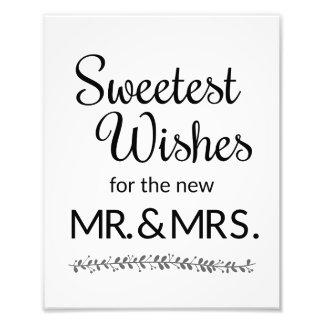Los deseos más dulces nuevos Sr. y señora Wedding Fotografias