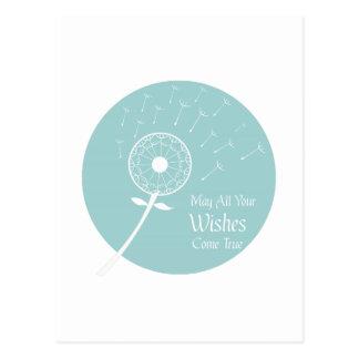 Los deseos vienen verdad tarjetas postales