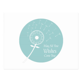 Los deseos vienen verdad tarjeta postal