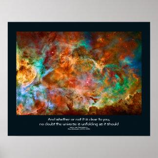 Los desiderátums citan - la nebulosa de Carina en Póster