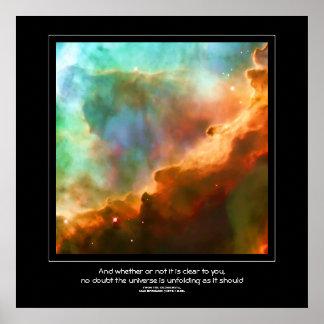 Los desiderátums citan - la región de la nebulosa póster