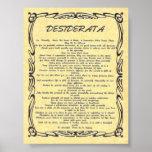 Los DESIDERÁTUMS Tatuaje-Envejecieron el pergamino Posters