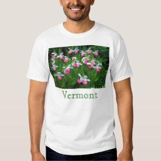 Los deslizadores de señora llamativa de Vermont Playera