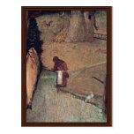 Los detalles de St Christopher de Hieronymus Bosch Tarjeta Postal