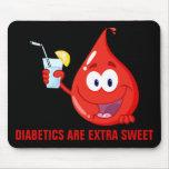 Los diabéticos son extraordinariamente dulces alfombrillas de raton