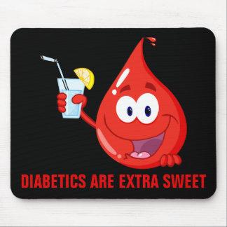 Los diabéticos son extraordinariamente dulces alfombrillas de ratones