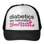 Los diabéticos son naturalmente dulces gorros bordados