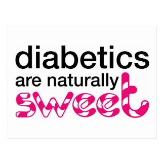 Los diabéticos son naturalmente dulces tarjeta postal
