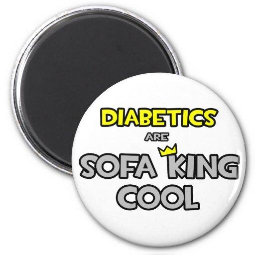 Los diabéticos son rey Cool del sofá Imanes De Nevera